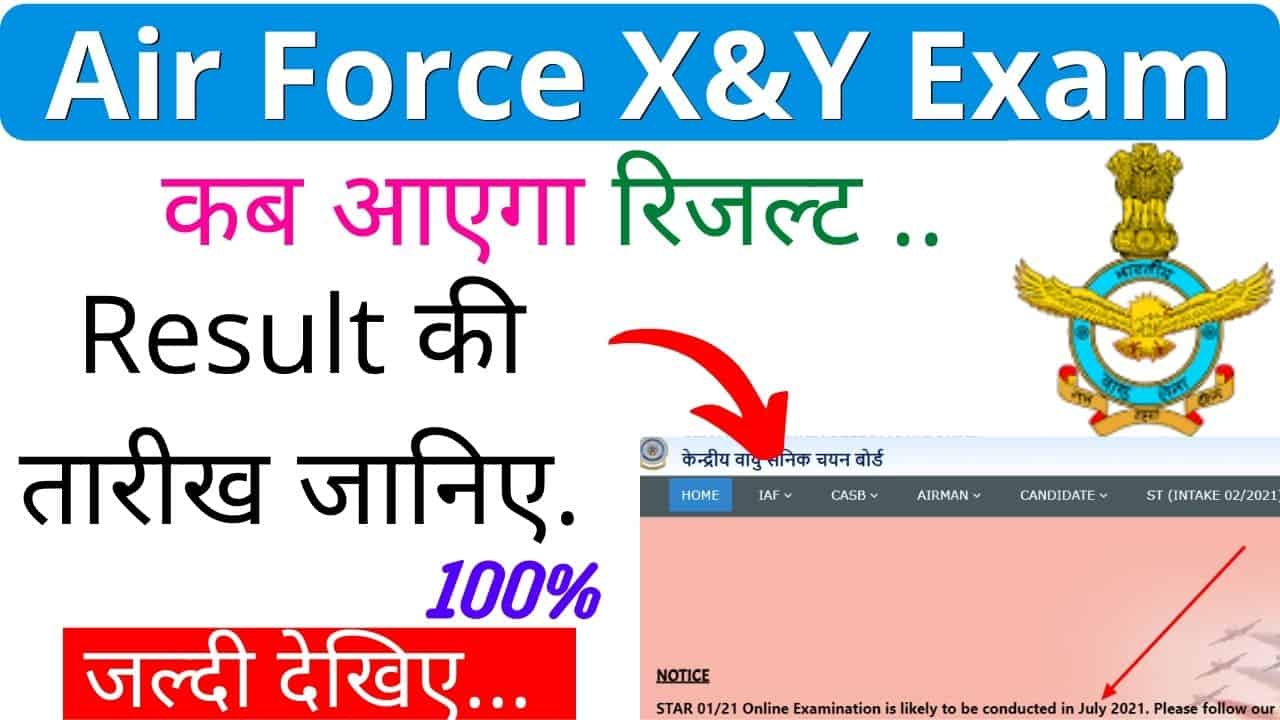 Airforce XY Group Result 2021